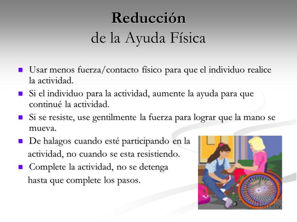 Reducción de la Ayuda Física