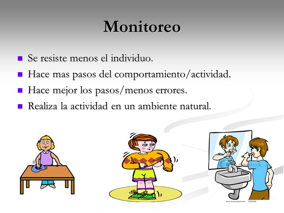 Monitoreo Se resiste menos el individuo.