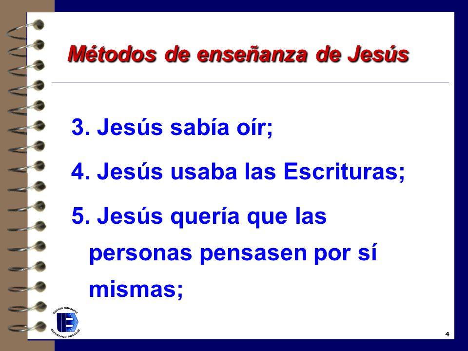 Métodos de enseñanza de Jesús