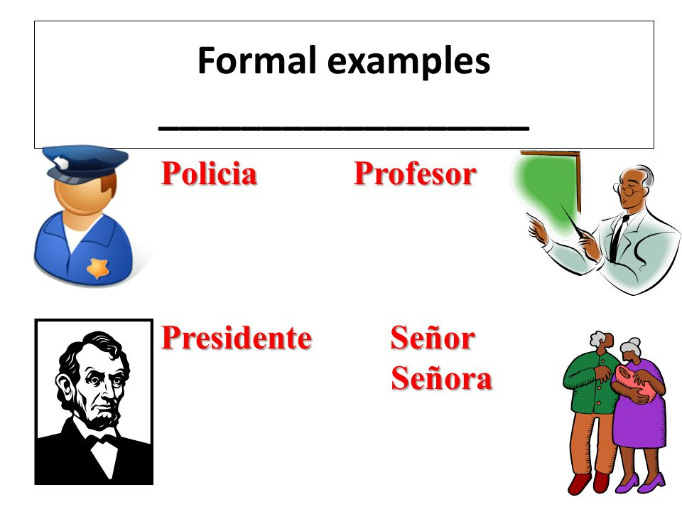 Formal examples __________________