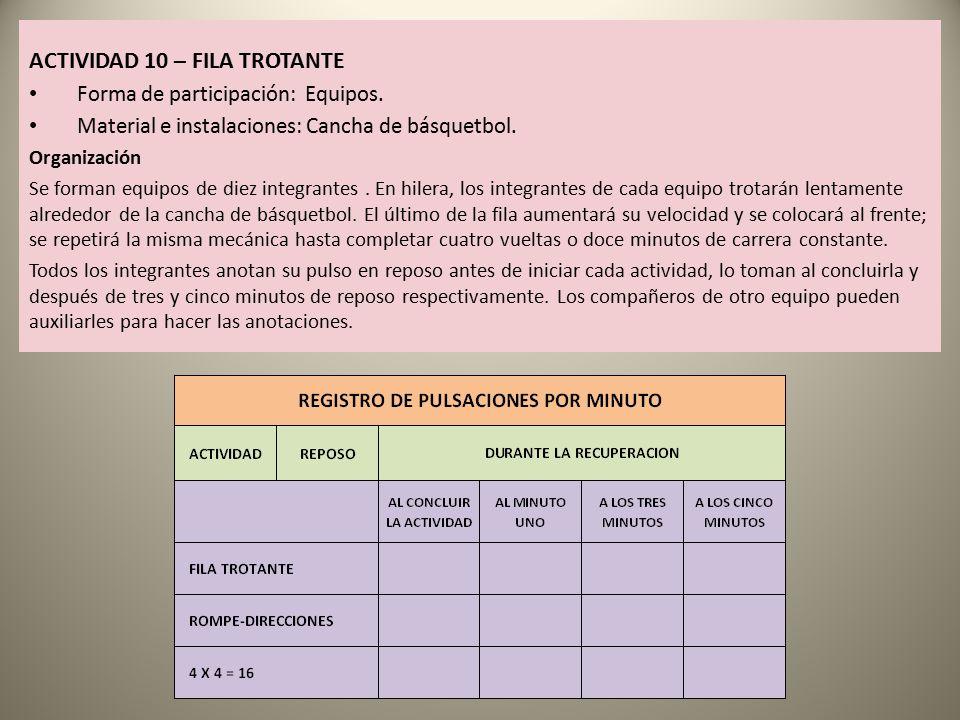 ACTIVIDAD 10 – FILA TROTANTE
