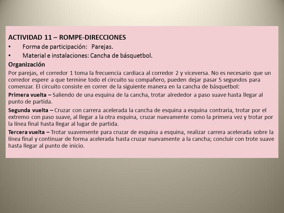 ACTIVIDAD 11 – ROMPE-DIRECCIONES