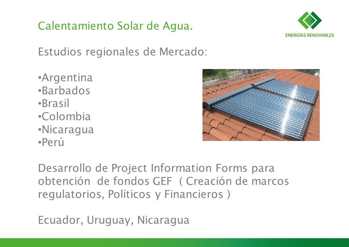 Calentamiento Solar de Agua.