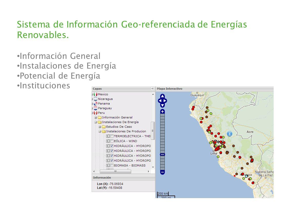 Sistema de Información Geo-referenciada de Energías Renovables.