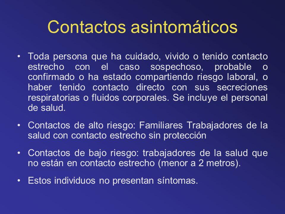 Contactos asintomáticos