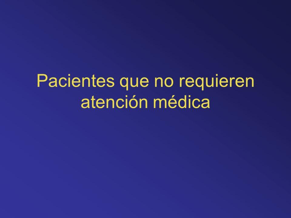 Pacientes que no requieren atención médica