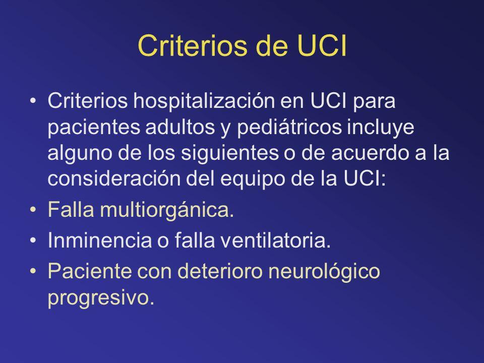 Criterios de UCI