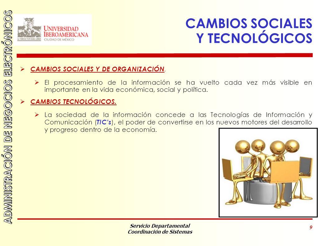 CAMBIOS SOCIALES Y TECNOLÓGICOS