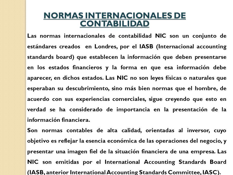 NORMAS INTERNACIONALES DE CONTABILIDAD - ppt video online descargar