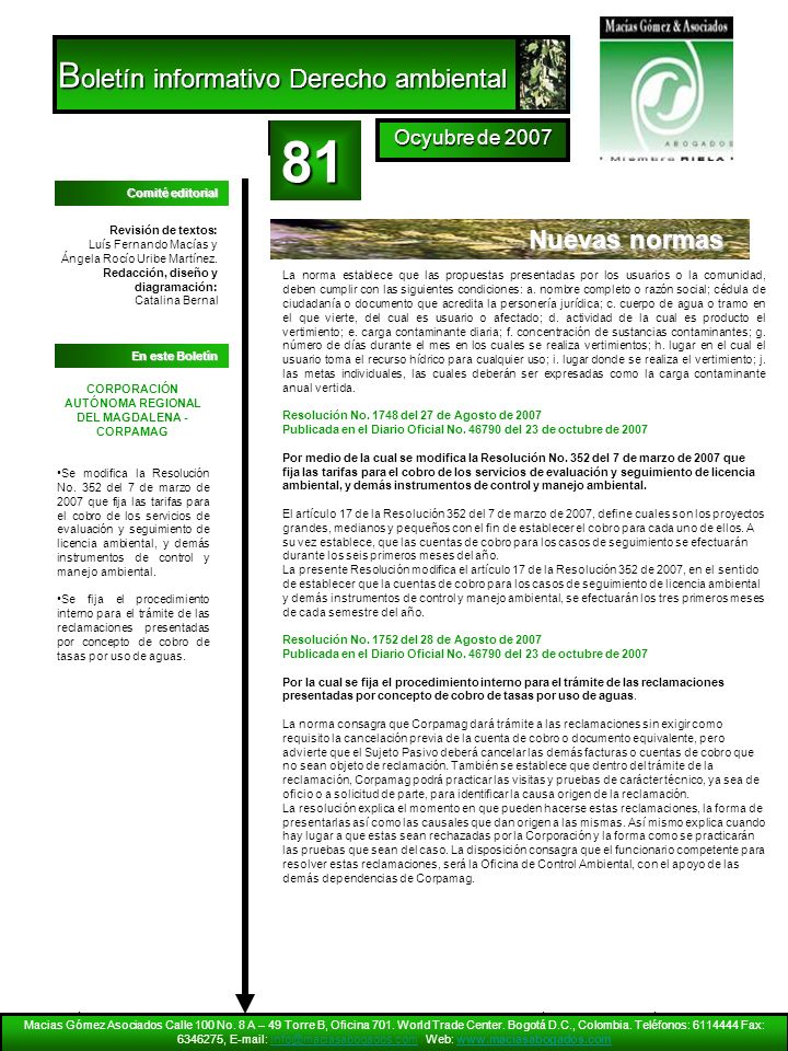 CORPORACIÓN AUTÓNOMA REGIONAL DEL MAGDALENA - CORPAMAG
