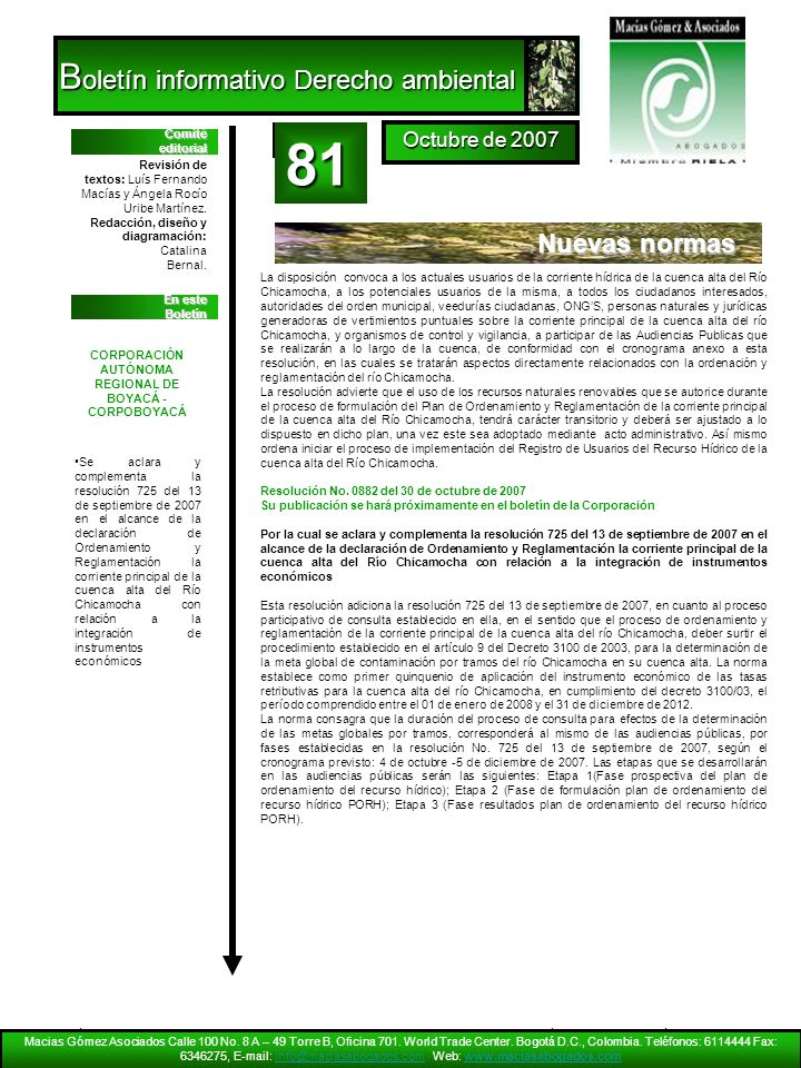 CORPORACIÓN AUTÓNOMA REGIONAL DE BOYACÁ -CORPOBOYACÁ
