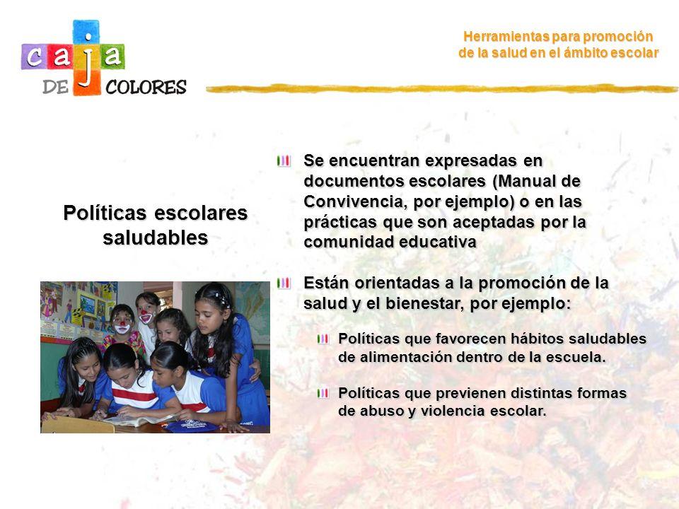 Políticas escolares saludables