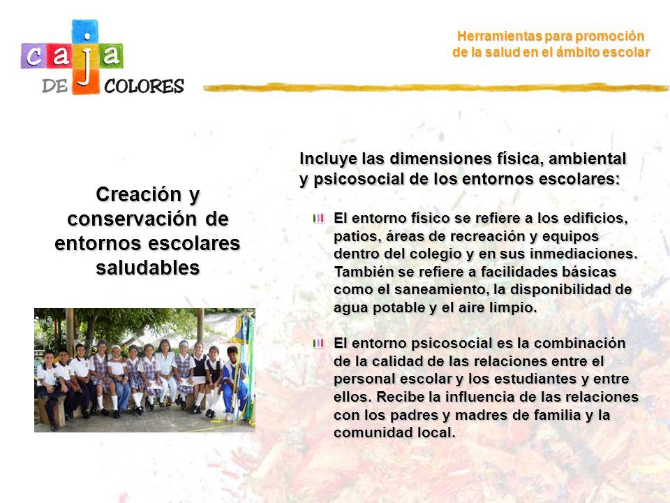 Creación y conservación de entornos escolares saludables