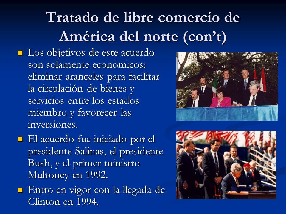 Tratado de libre comercio de América del norte (con't)
