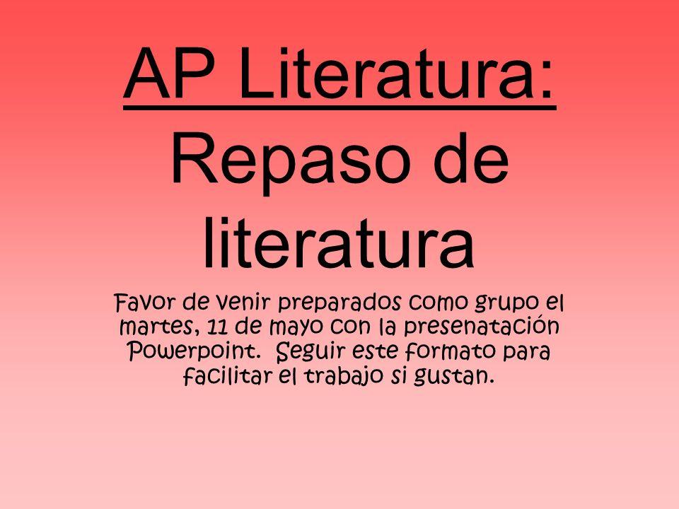 AP Literatura: Repaso de literatura