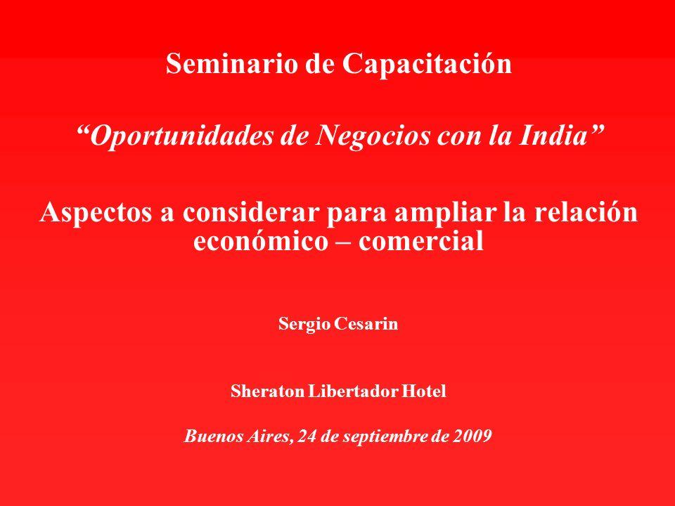 Seminario de Capacitación Oportunidades de Negocios con la India