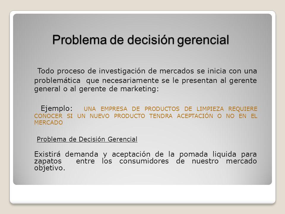 Problema de decisión gerencial