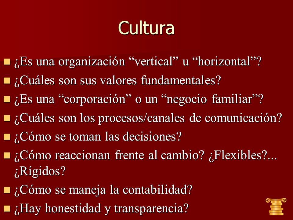 Cultura ¿Es una organización vertical u horizontal