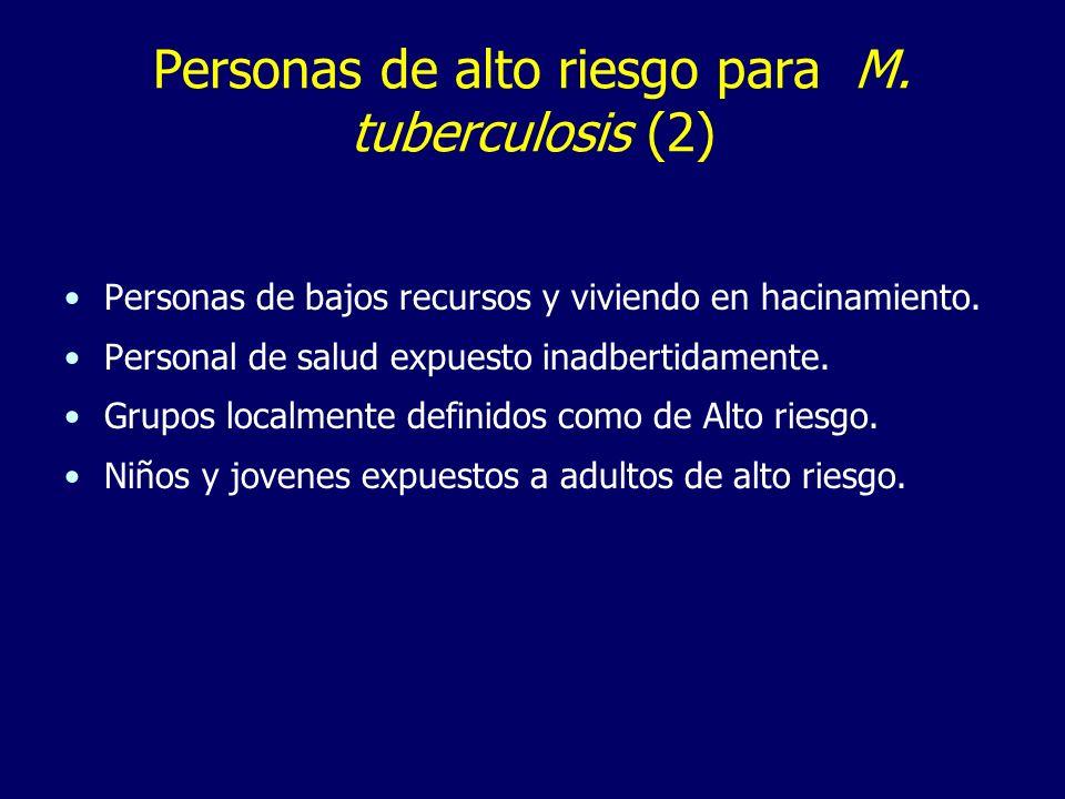 Personas de alto riesgo para M. tuberculosis (2)