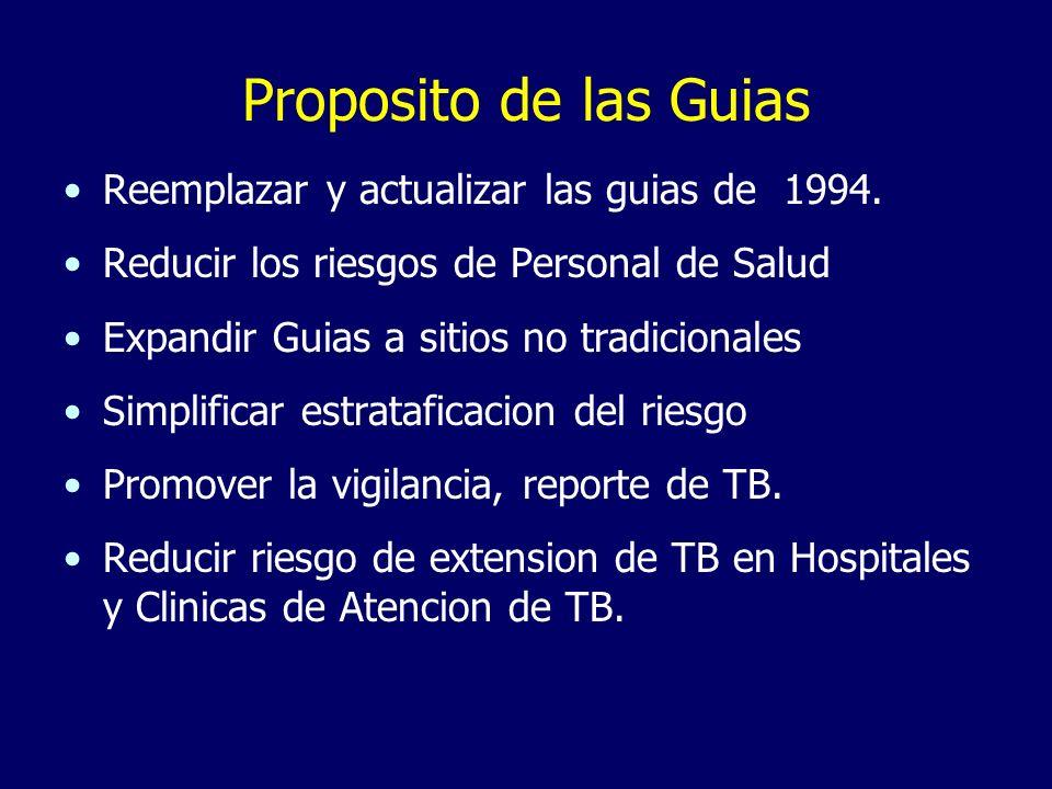 Proposito de las Guias Reemplazar y actualizar las guias de 1994.