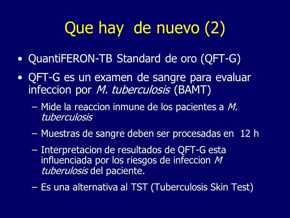 Que hay de nuevo (2) QuantiFERON-TB Standard de oro (QFT-G)