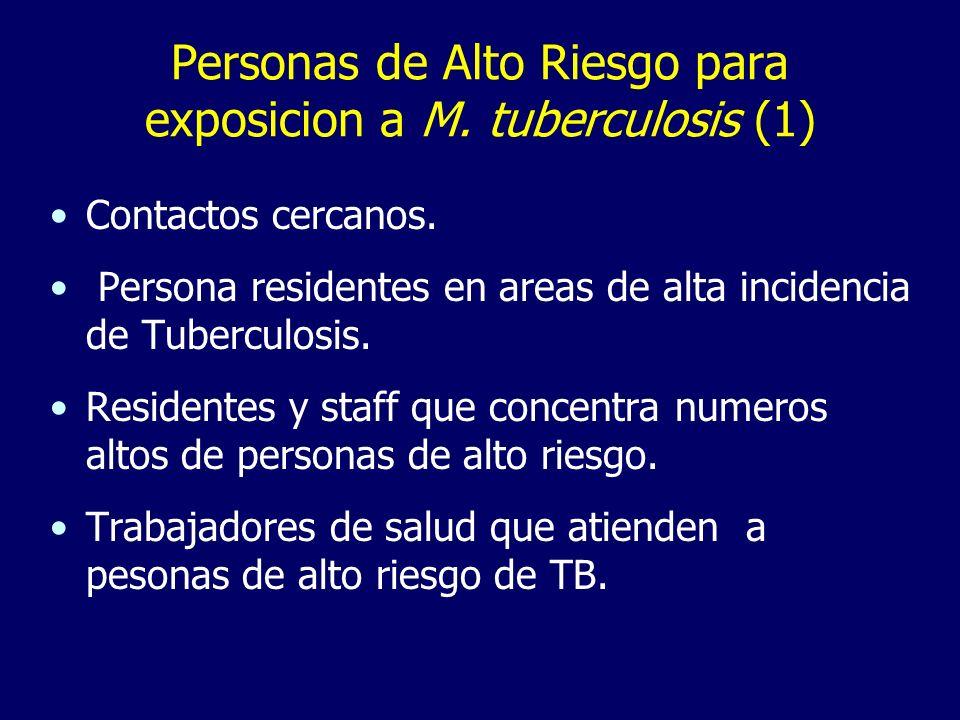 Personas de Alto Riesgo para exposicion a M. tuberculosis (1)