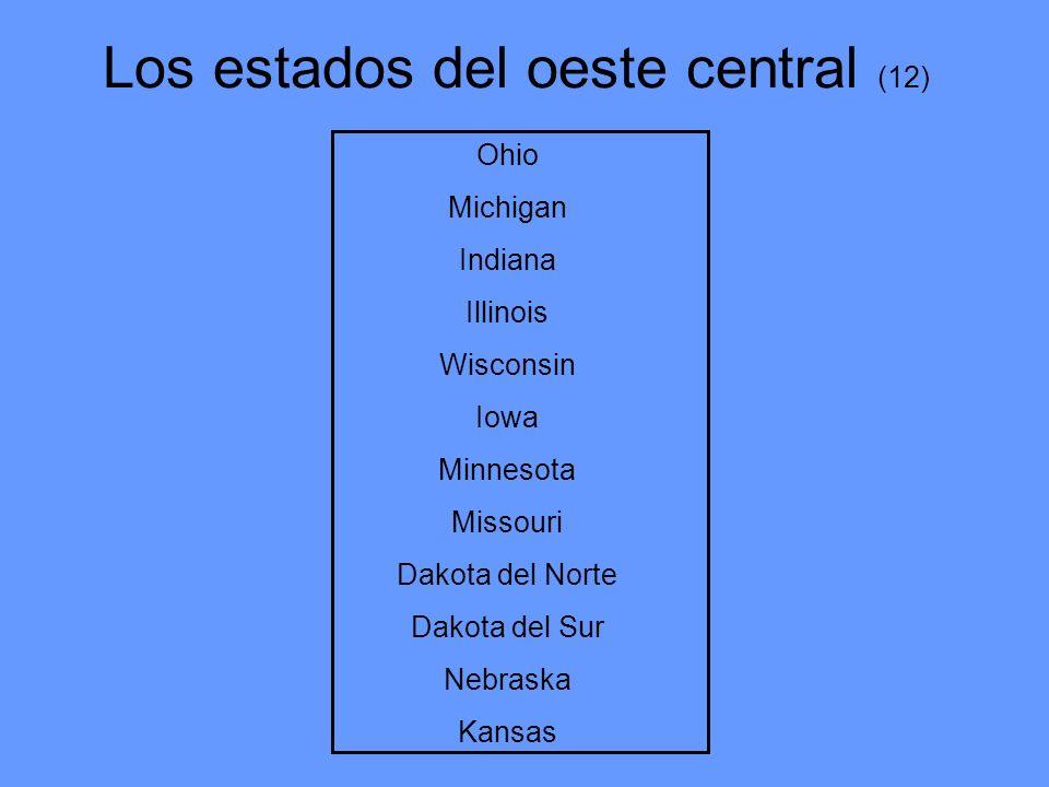 Los estados del oeste central (12)
