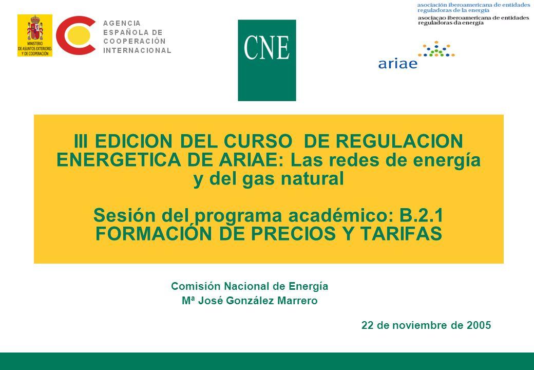 Comisión Nacional de Energía Mª José González Marrero