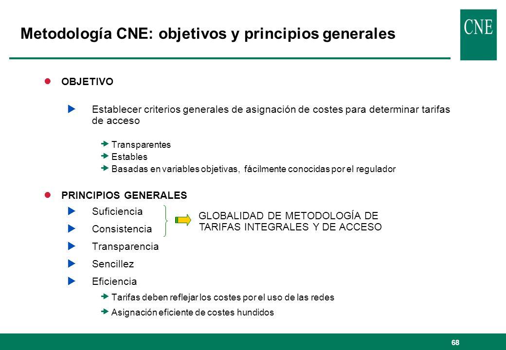 Metodología CNE: objetivos y principios generales