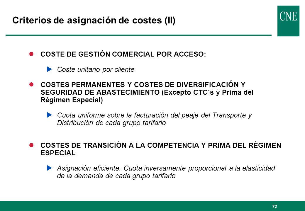 Criterios de asignación de costes (II)