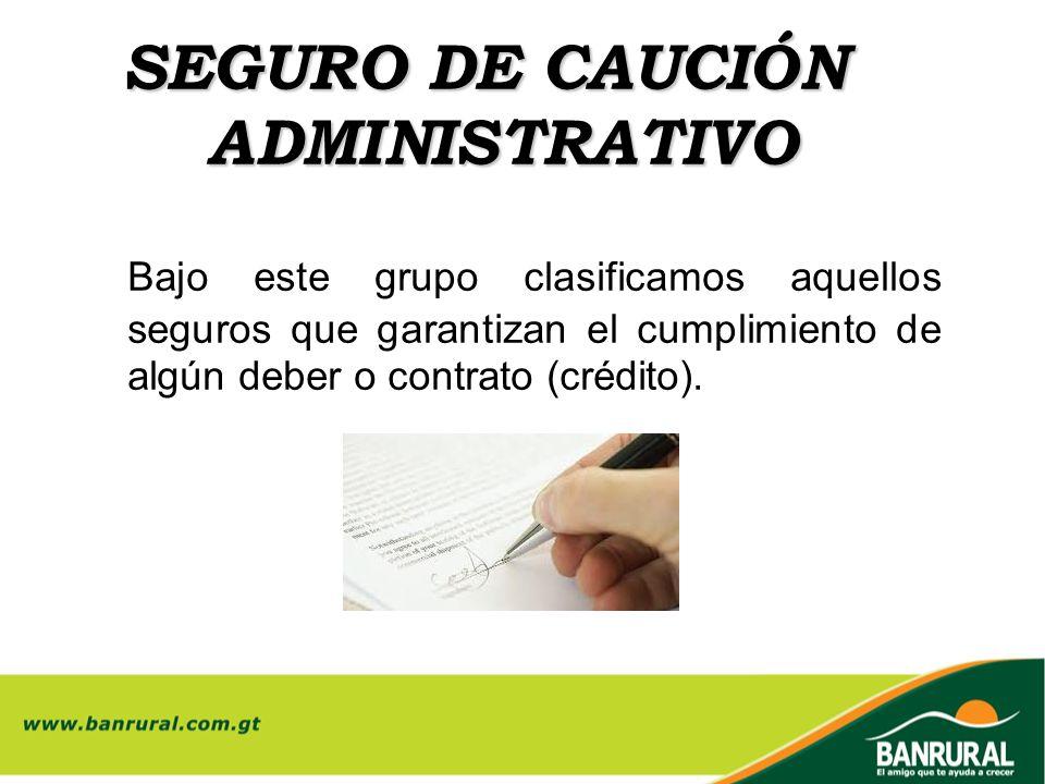 SEGURO DE CAUCIÓN ADMINISTRATIVO
