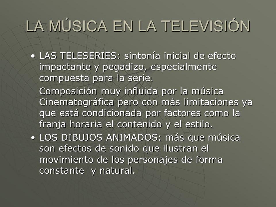 LA MÚSICA EN LA TELEVISIÓN