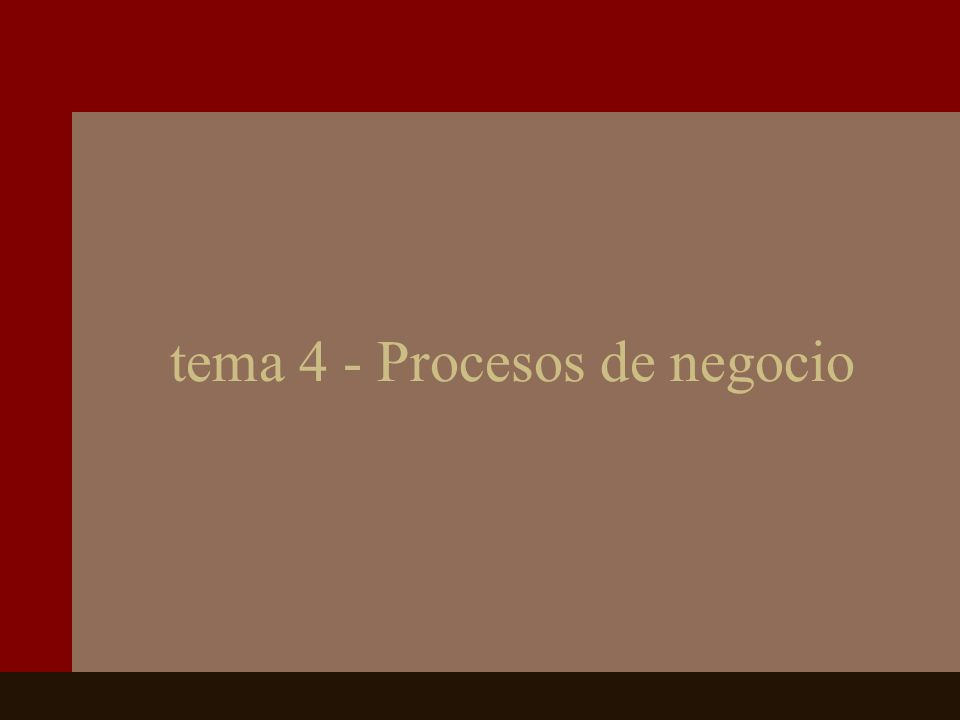 tema 4 - Procesos de negocio
