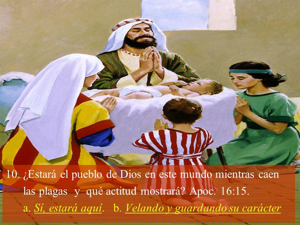 ¿Estará el pueblo de Dios en este mundo mientras caen