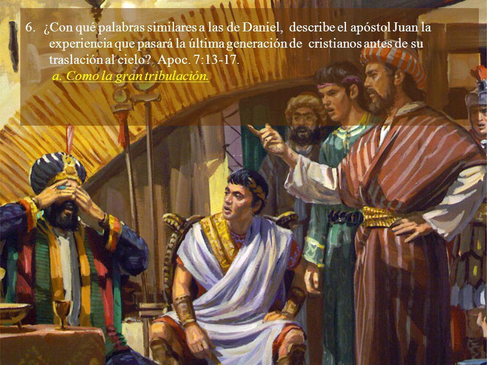 ¿Con qué palabras similares a las de Daniel, describe el apóstol Juan la
