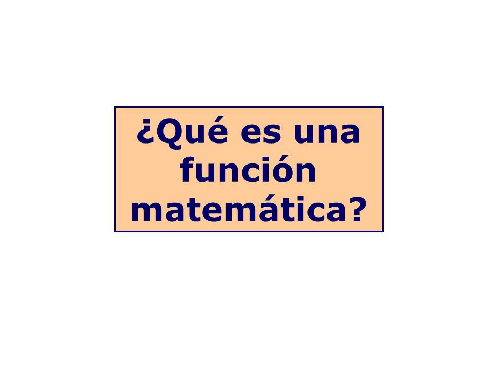 ¿Qué es una función matemática