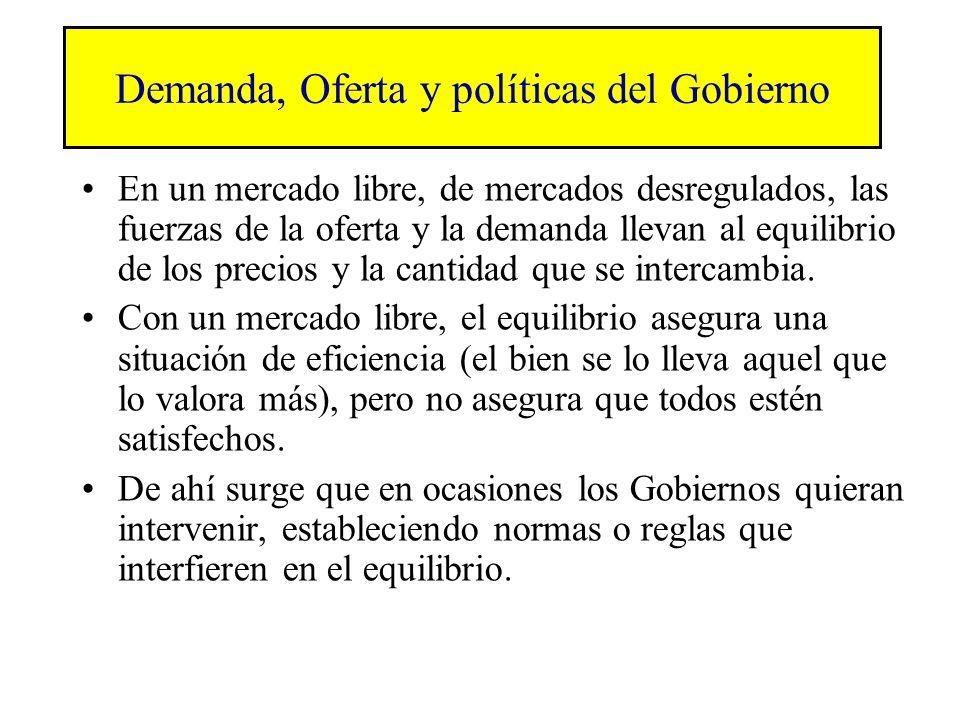 Demanda, Oferta y políticas del Gobierno
