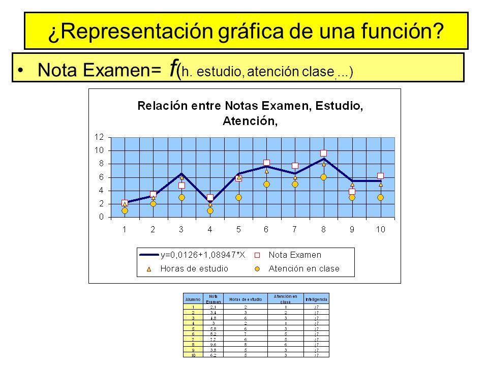 ¿Representación gráfica de una función