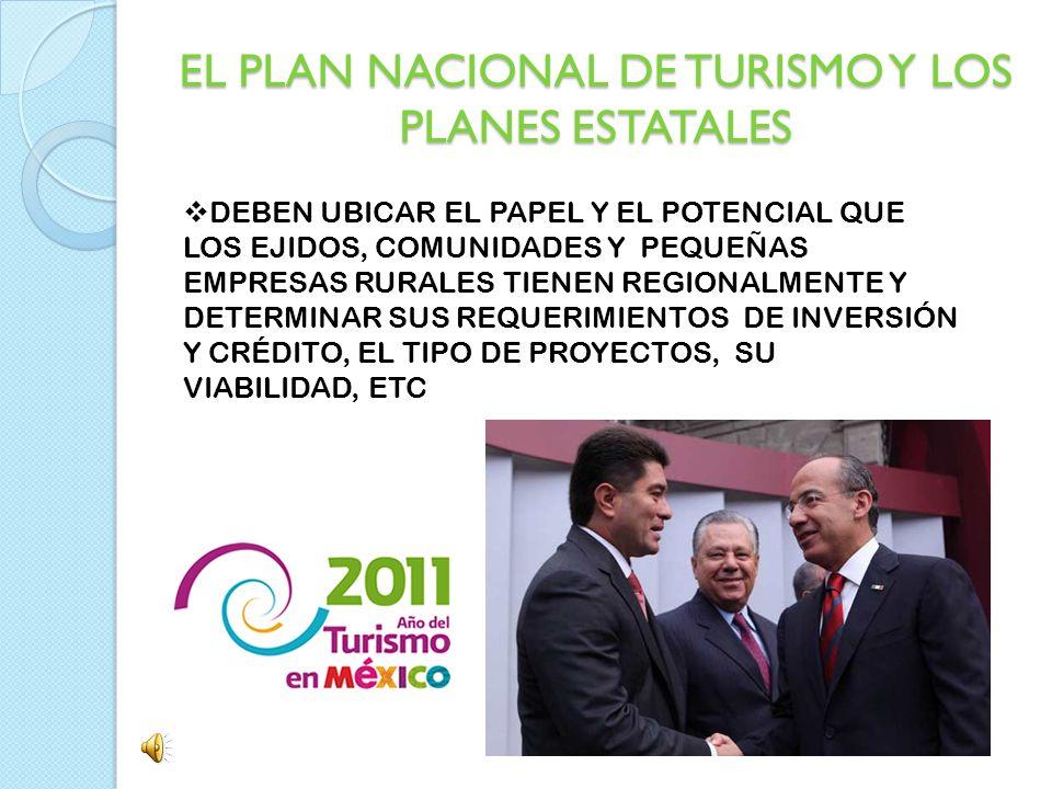EL PLAN NACIONAL DE TURISMO Y LOS PLANES ESTATALES