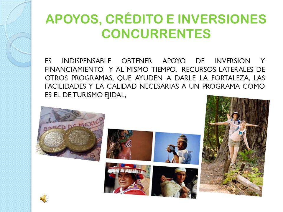 APOYOS, CRÉDITO E INVERSIONES CONCURRENTES