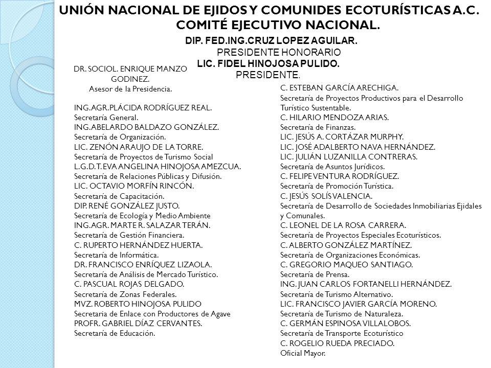 COMITÉ EJECUTIVO NACIONAL. LIC. FIDEL HINOJOSA PULIDO.