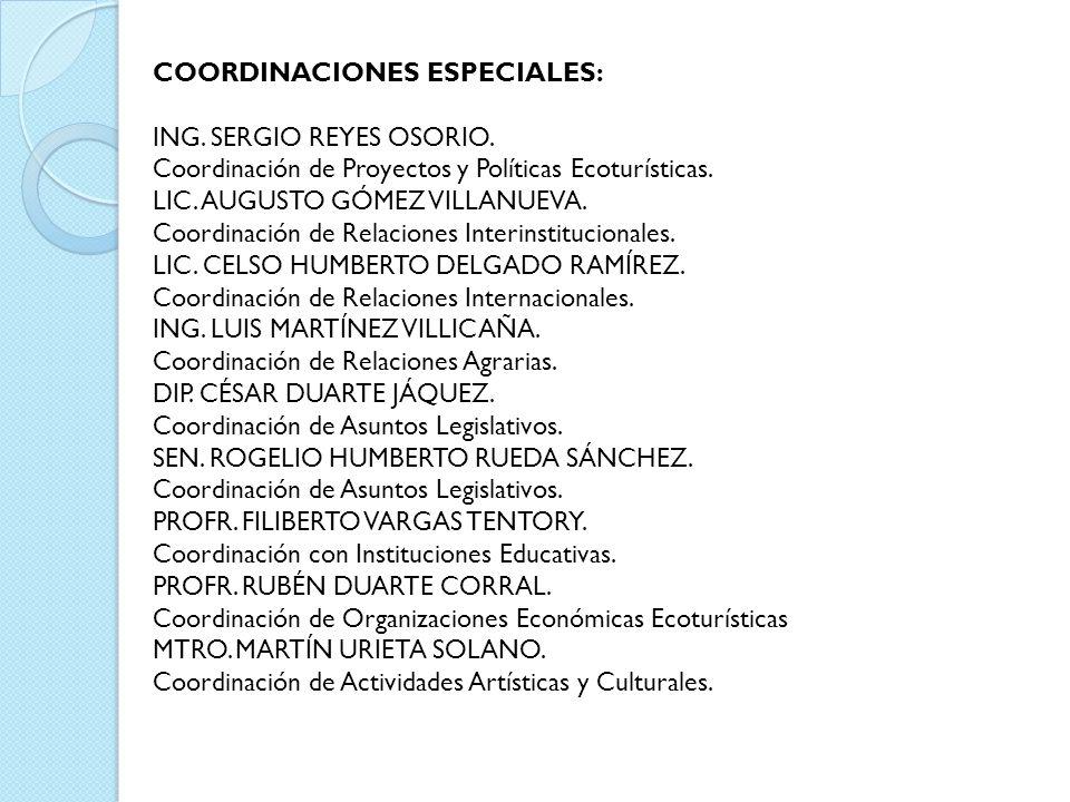 COORDINACIONES ESPECIALES: