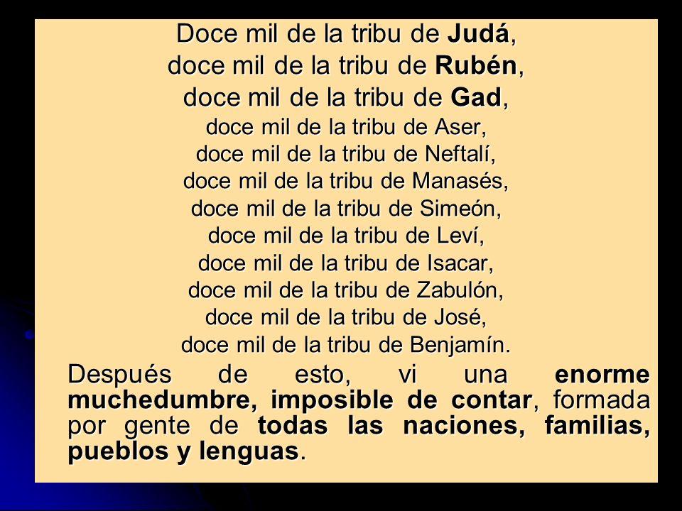 Doce mil de la tribu de Judá, doce mil de la tribu de Rubén,
