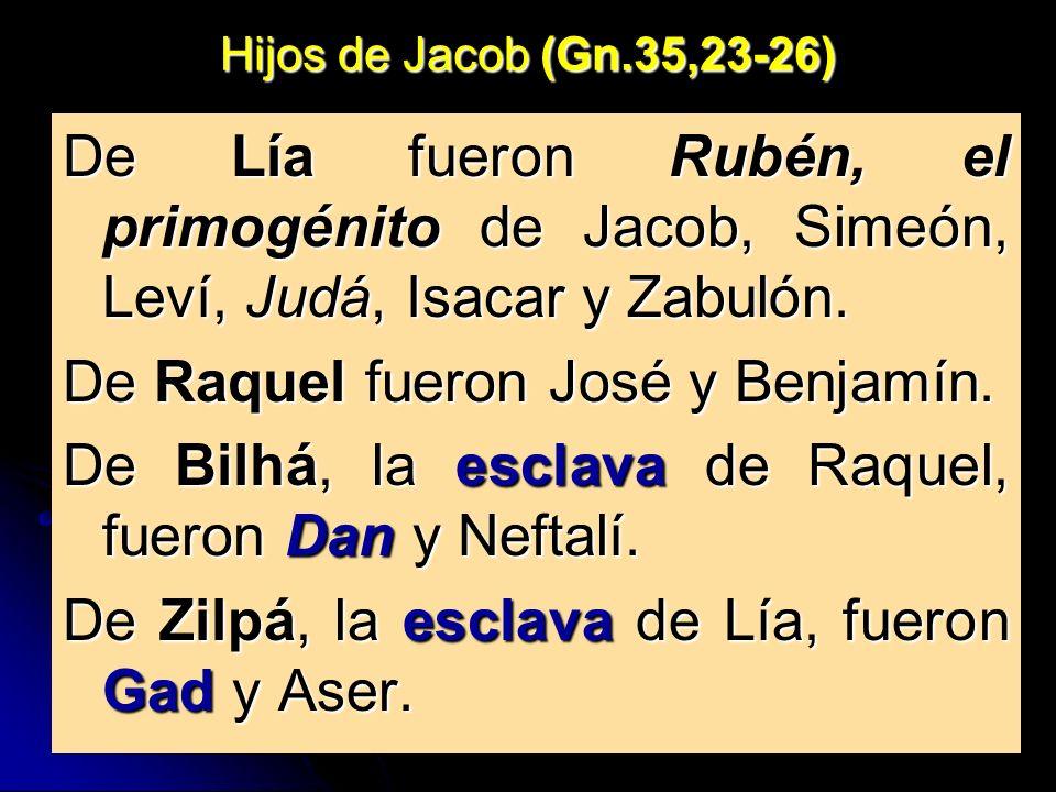 De Raquel fueron José y Benjamín.