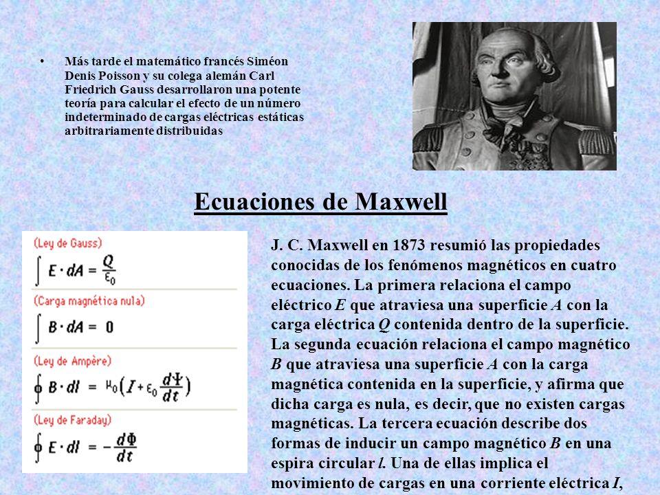 Más tarde el matemático francés Siméon Denis Poisson y su colega alemán Carl Friedrich Gauss desarrollaron una potente teoría para calcular el efecto de un número indeterminado de cargas eléctricas estáticas arbitrariamente distribuidas