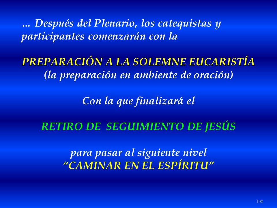 … Después del Plenario, los catequistas y