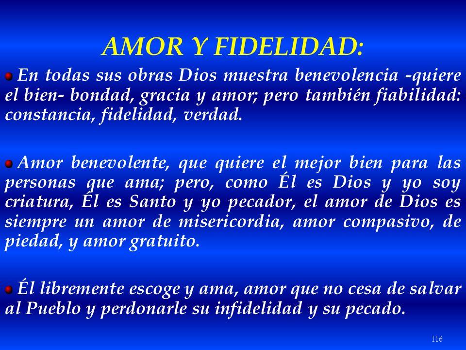 AMOR Y FIDELIDAD: