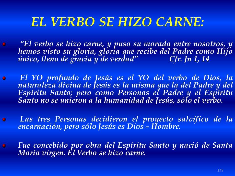 EL VERBO SE HIZO CARNE: