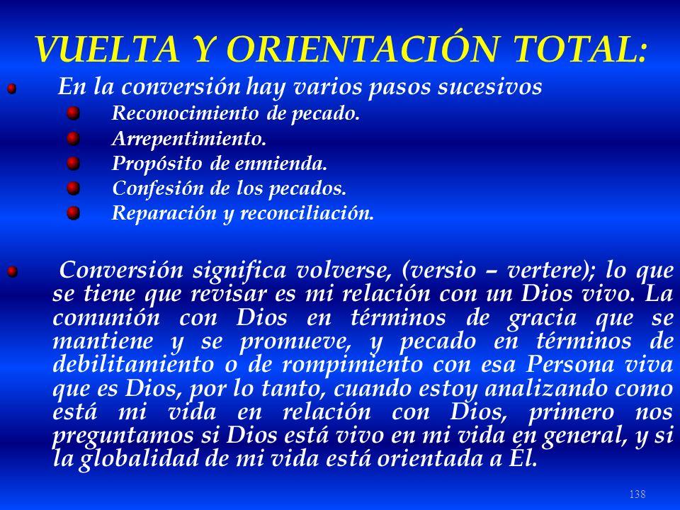 VUELTA Y ORIENTACIÓN TOTAL:
