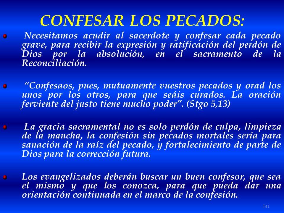 CONFESAR LOS PECADOS: